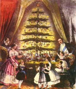 Christmas Tree at Windsor Castle, 1848.