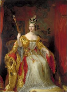 Coronation of Queen Victoria by Sir George Hayter.