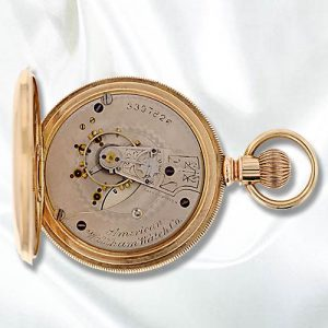 American Waltham Watch Company Open Face Watch, reverse c. 1887.