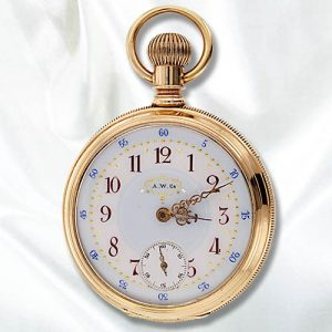 American Waltham Watch Company Open Face Watch c. 1887.