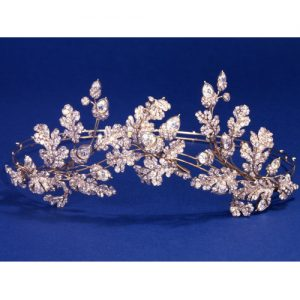 Hunt & Roskell Acorn and Oak Leaf Diamond Set Tiara c.1855.