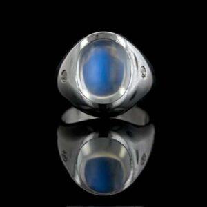 Moonstone Ring Exhibiting Adularescence.