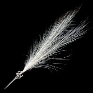 Natural Pearl and Diamond Aigrette Pin.