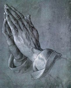 Betende Hände - Praying hands from Albrecht Dürer, 1508.