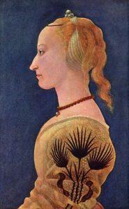 portrait by Alesso Baldonivetti c. 1470
