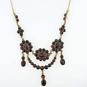 Almandine Garnet Necklace.