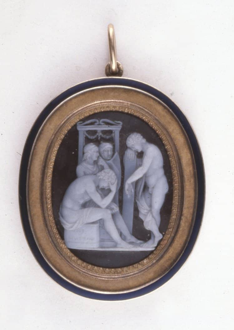 Education of the Infant Bacchus, Sardonyx. © Trustees of the British Museum.