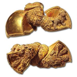 An Example of Fine Granulation. Indian Earrings, First Century B.C.