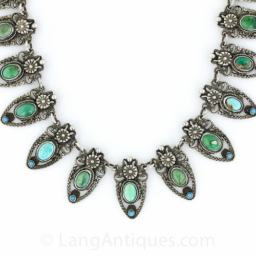Antique Austro Hungarian Turquoise Necklace.jpg