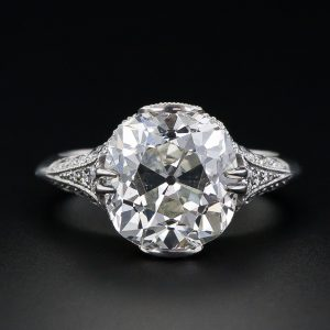 Antique Cushion-Cut Diamond Ring.