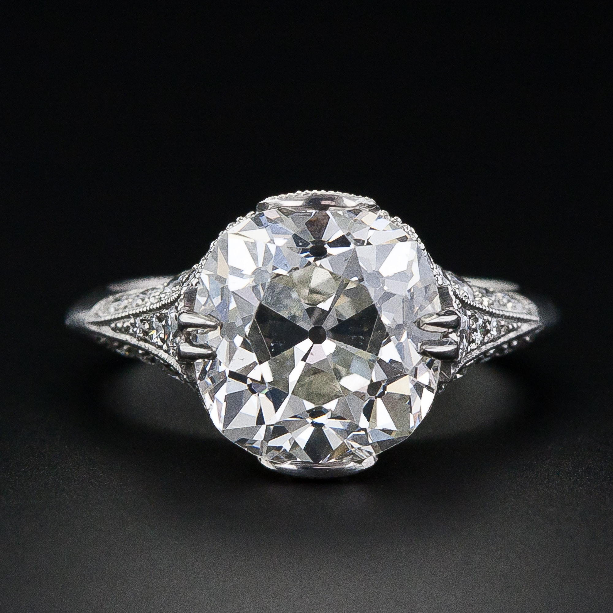 Antique Cushion Cut Diamond Ring 1.jpg