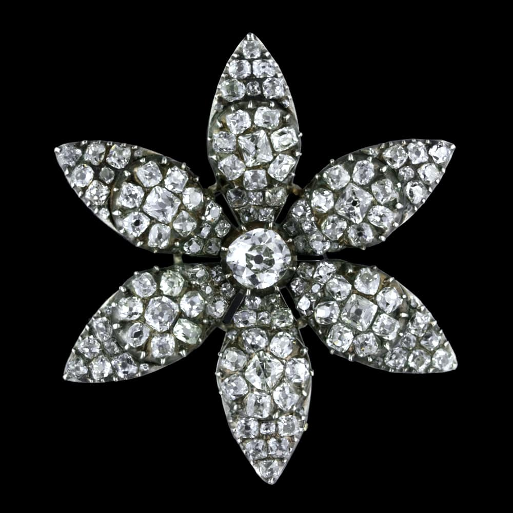 Antique Diamond Flower Brooch.jpg