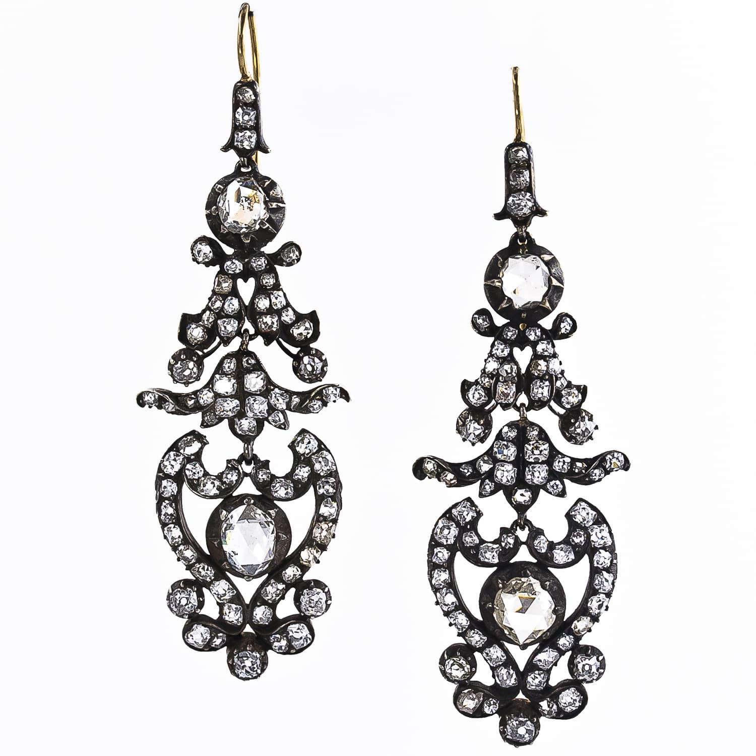 Antique Victorian Diamond Drop Earrings.jpg
