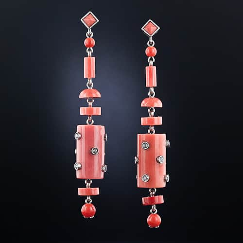 Art Deco Coral Drop Earrings.jpg