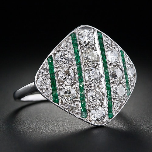 Art Deco Diamond Emerald Ring la 4026.jpg