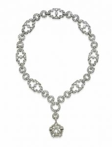 Art Deco Diamond Pendant Necklace, c.1925.