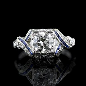 1.05 Carat Art Deco Diamond Engagement Ring.