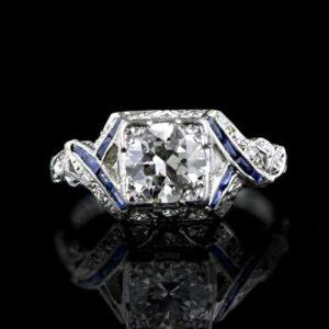 1.05 Carat Art Deco Diamond Engagement Ring.