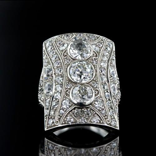 Art Deco Diamond Ring Slideshow