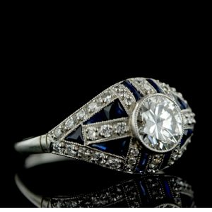 Art Deco Engagement Ring.