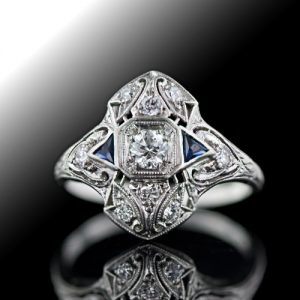 Art Deco Diamond Dinner Ring.