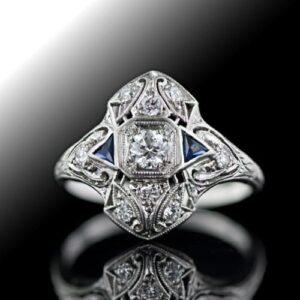 Art Deco Diamond Dinner Ring.