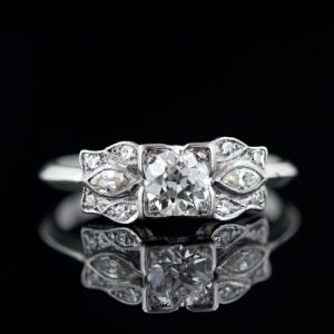 1930's Art Deco 0.40 Carat Diamond Diamond Ring.