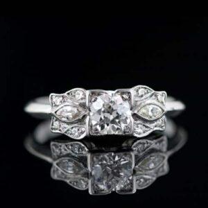 1930's Art Deco 0.40 Carat Diamond Diamond Ring.