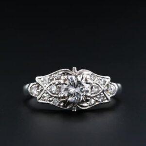Art Deco Diamond Engagement Ring C.1930.