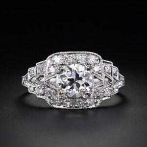 Art Deco Diamond Engagement Ring.