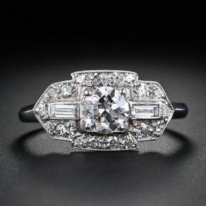 Art Deco Diamond Engagement Ring.