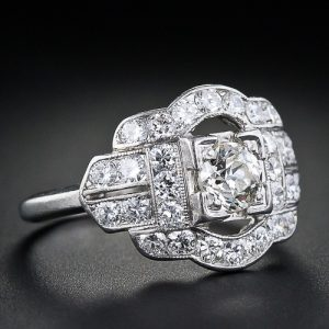 Art Deco Whitehouse Bros. Diamond Engagment Ring.