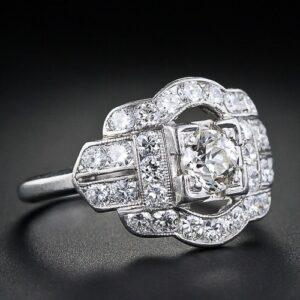 Art Deco Whitehouse Bros. Diamond Engagment Ring.