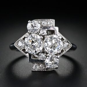 Art Deco Geometric Diamond Ring.