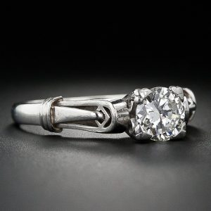 Art Deco Architectural Style Diamond Engagement Ring.