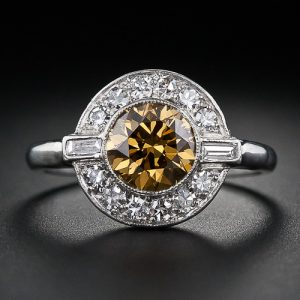 Art Deco Natural Fancy Colored Diamond Ring.