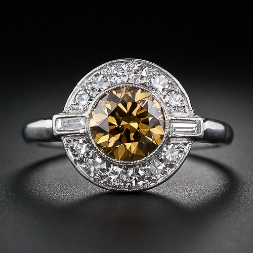 Art Deco Natural Fancy Colored Diamond Ring Photo Courtesy Of Lang Antiques