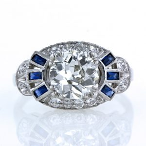 1.58 Carat Art Deco Diamond Ring.