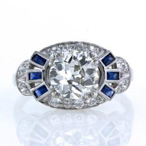 1.58 Carat Art Deco Diamond Ring.