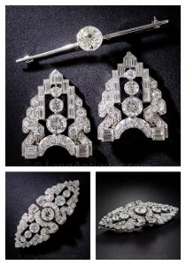 Art Deco Double Dress Clips