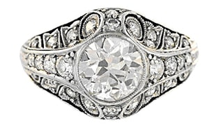 Art Deco European Cut Diamond Ring.jpg