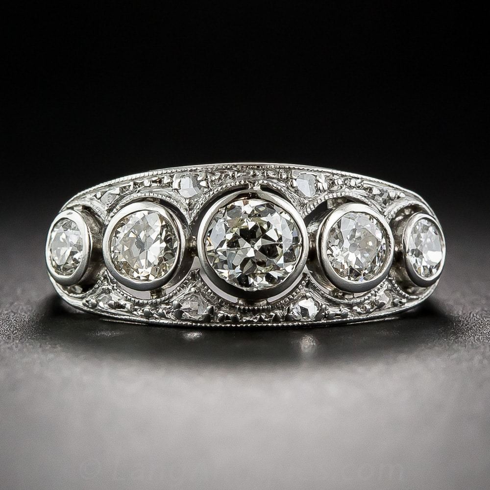 Art Deco Five Stone Diamond Ring.jpg