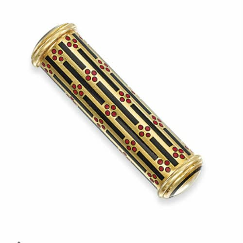 Art Deco Gold Enamel Lipstick Holder.jpg