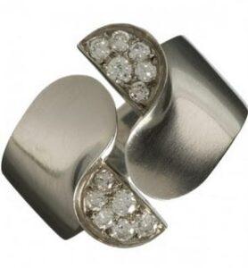 Art Deco Bijoutiers-Artiste Jean Depres, Diamond Ring.