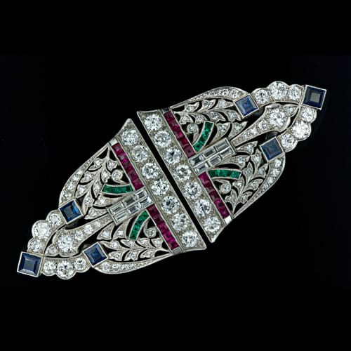 Art Deco Multi Stone Clip Brooch.jpg