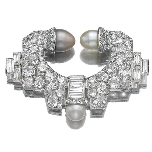 Art Deco Natural Pearl Diamond Brooch.jpg