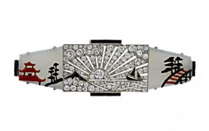 Art Deco Japonesque Diamond Brooch Photo Courtesy of Frances Klein Classic Jewels
