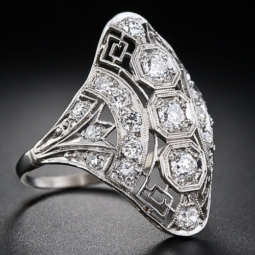 Art Deco Platinum Diamond Dinner Ring.jpg