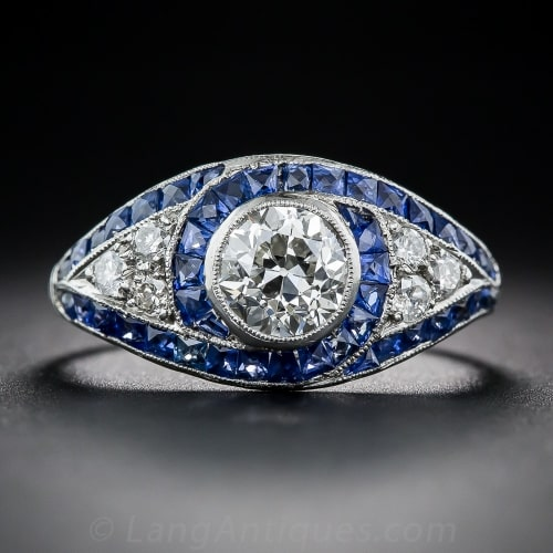 Art Deco Sapphire Diamond Engagement Ring.jpg