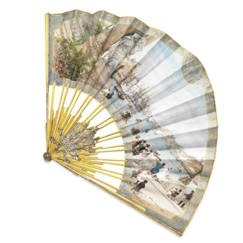 Art Nouveau Diamond Silk Fan.jpg